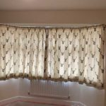 stag head print curtains