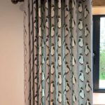 penguin print curtains