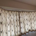 curtains with deer print on them
