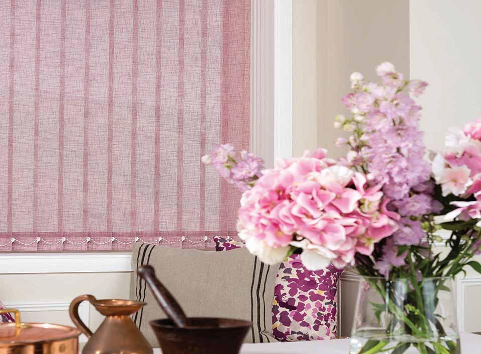 louvolite vertical blinds linen elderberry in lounge