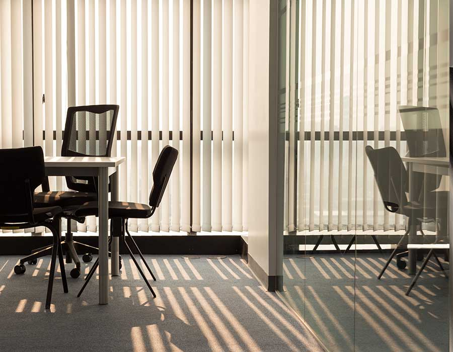 office blinds in modern offices