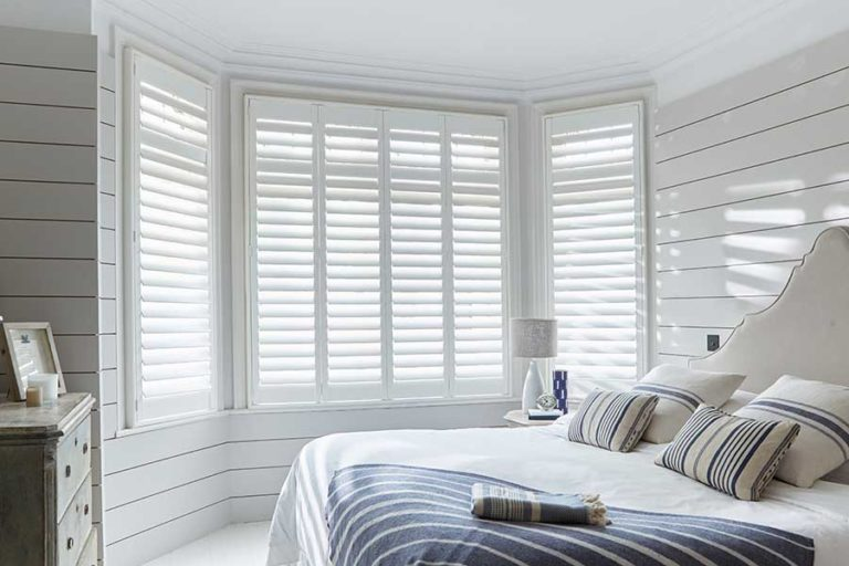 plantation shutters in bedroom - (arena blinds)