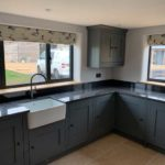 new duck print blinds in modern kitchen